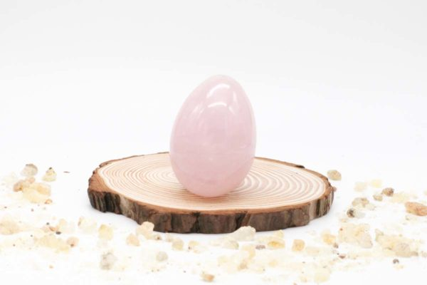 Cuarzo rosa huevo único