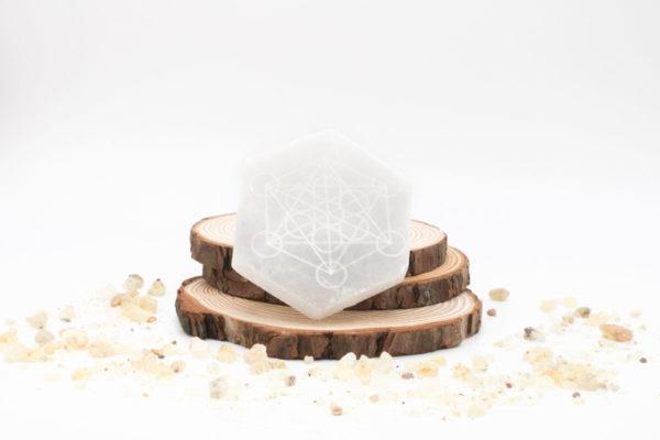 Selenita hexaedro metatron